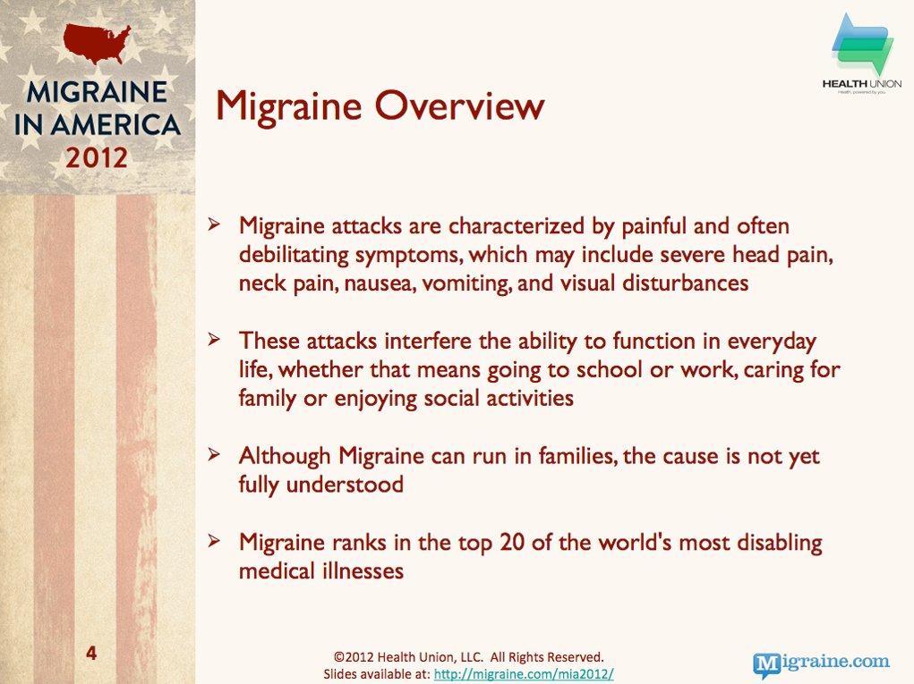 Migraine background & overview