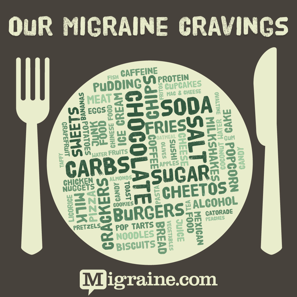 Migraine food cravings