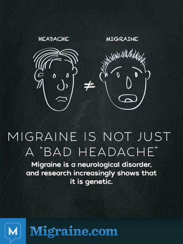 Migraine is not a bad headache 01