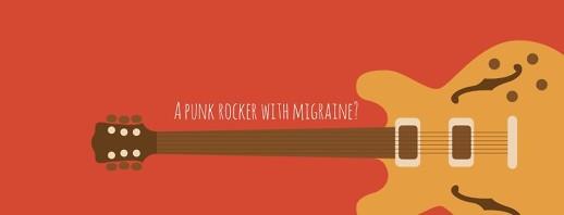 Meet a Migraine Superhero: A Punk Rocker with Persistent Migraine Aura image