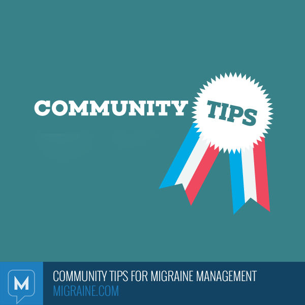 Community tips for migraine management