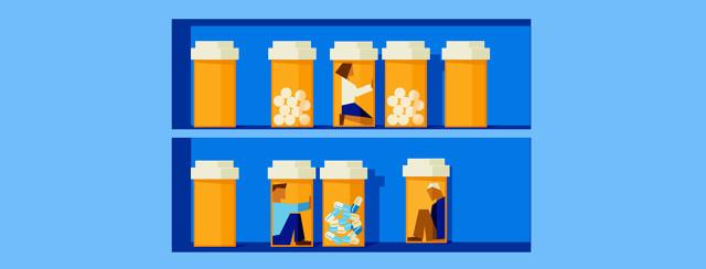 People trapped inside of medication bottles