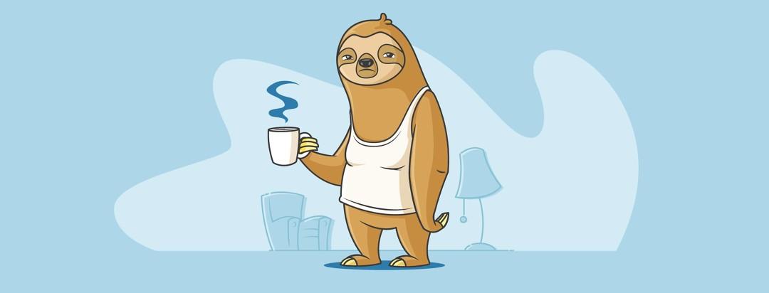 Lazy Sloth moving slowly through life